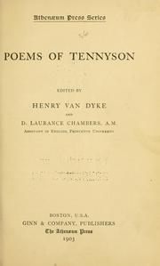 Cover of: Poems of Tennyson | Alfred, Lord Tennyson
