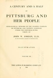 Cover of: A century and a half of Pittsburg and her people by John Newton Boucher