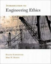 Cover of: Introduction to Engineering Ethics | Roland Schinzinger