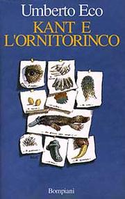 Cover of: Kant e l'ornitorinco