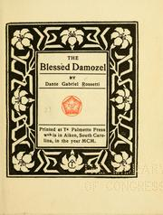 Cover of: The blessèd damozel