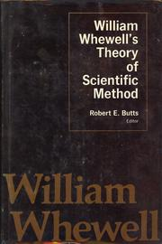 Cover of: William Whewell's Theory of scientific method