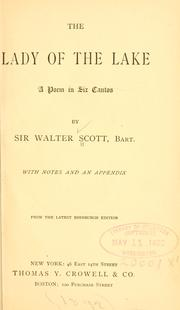 Cover of: The Lady of the lake by Sir Walter Scott