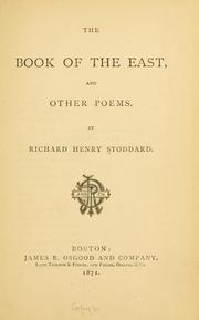 Cover of: The book of the East, and other poems