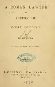 Cover of: A Roman lawyer in Jerusalem: First century.
