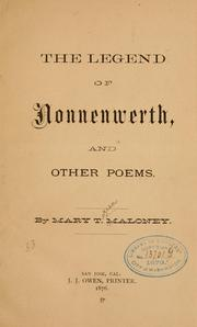 Cover of: The legend of Nonnenwerth