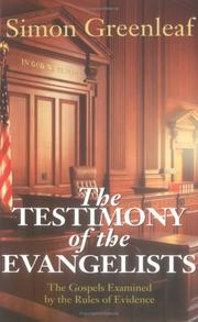 Cover of: The testimony of the evangelists