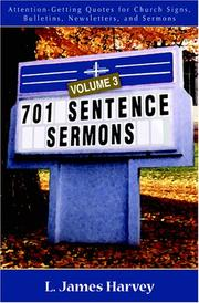 Cover of: 701 Sentence Sermons, Vol. 3