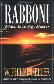 Cover of: Rabboni: which is to say, Master
