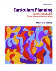 Cover of: Curriculum Planning