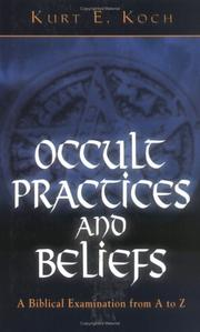 Cover of: Occult Practices and Beliefs | Kurt E. Koch