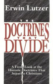 Cover of: The doctrines that divide