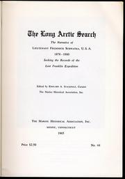 Cover of: The long Arctic search