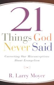 Cover of: 21 Things God Never Said