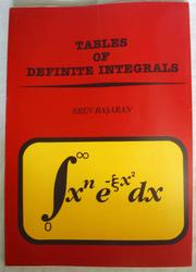 Cover of: Tables of definite integrals |