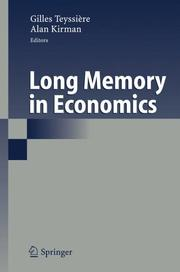 Cover of: Long memory in economics