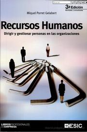 Cover of: Recursos Humanos by Porret Gelabert, Miquel