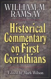 Cover of: Historical commentary on First Corinthians