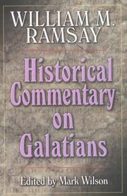 Cover of: Historical commentary on Galatians