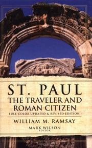 Cover of: St. Paul: the traveler and Roman citizen