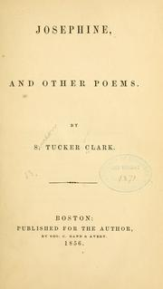 Cover of: Josephine, and other poems