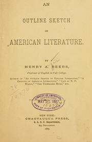 Cover of: An Outline Sketch Of American Literature