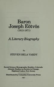 Cover of: Baron Joseph Eötvös, 1813-1871