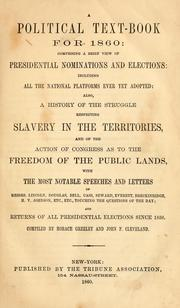 Cover of: A political text-book for 1860