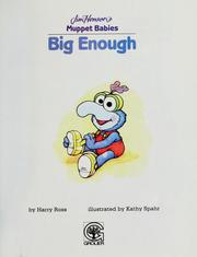 Cover of: Big enough | Harry Ross