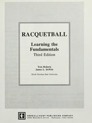 Cover of: Racquetball