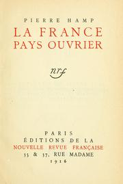 Cover of: La France, pays ouvrier