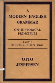 Cover of: A modern English grammar on historical principles