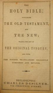 Cover of: Holy Bible: |
