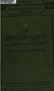 Die Homosexualität des Mannes und des Weibes (German Edition)