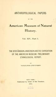 Cover of: The Stefánsson-Anderson Arctic Expedition of the American Museum