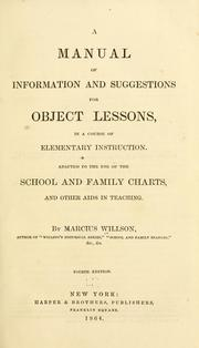 Cover of: A manual of information and suggestions for object lessons