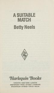 Cover of: Suitable Match by Betty Neels