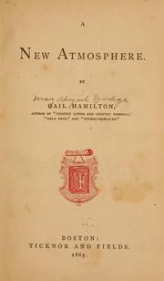 Cover of: A new atmosphere | Hamilton, Gail