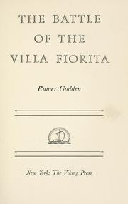 Cover of: The battle of the Villa Fiorita