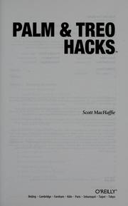 Cover of: Palm & Treo hacks by Scott MacHaffie