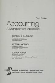 Cover of: Accounting | Gordon Shillinglaw