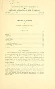 Cover of: Miwok moieties