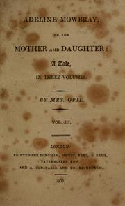Cover of: Adeline Mowbray | Amelia Alderson Opie