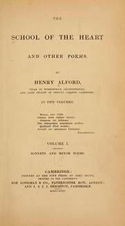 Cover of: The school of the heart, and other poems