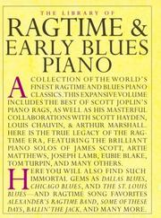 Cover of: Library Of Ragtime & Early Blues Piano ((the Library of....)) |