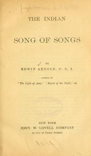 Cover of: The Indian Song of songs