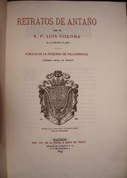 Cover of: Retratos de antaño