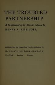 Cover of: The troubled partnership