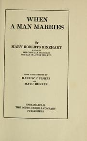 Cover of: When a Man Marries