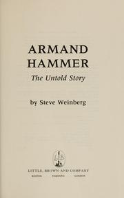 Cover of: Armand Hammer | Steve Weinberg